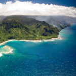 Beautiful view of Kauai from the air