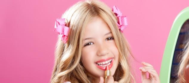 Children Fashion Doll Little Girl Lipstick Makeup Pink