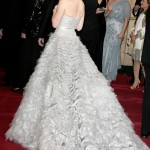 Amy Adams in an Oscar de la Renta gown.