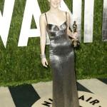 Jennifer Lawrence in Calvin Klein at the 2013 Vanity Fair Oscar Party.