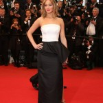 Jennifer Lawrence Tanned and Bobbed