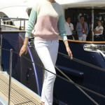 Karolina Kurkova Yachts in Pastels