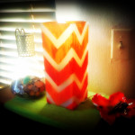 Ikea Hacks: Simple TableTop Ottoman and Chevron Lamp
