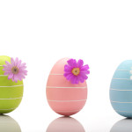 Easter eggs with flower