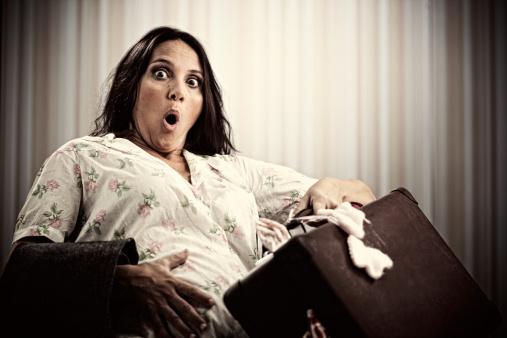 pregnant woman hospital bag