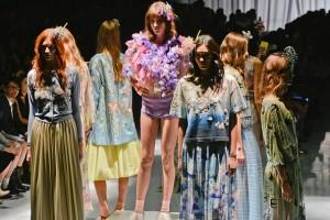 models walking at Paris Fashion Week