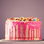 45284084 - beautiful big pink cake. birthday cake